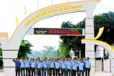 Trường Cao đẳng Việt Nam-Hàn Quốc-Quảng Ngãi thông báo xét hồ sơ dự tuyển năm 2021